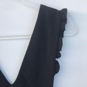 After Market Dresses - After Market Black V-Neck Apron Dress M
